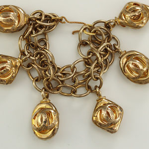 CHANEL Jewelry - 1980s Vintage Chanel Bracelet with Puffy Charms